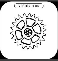 gear hand drawn icon vector image