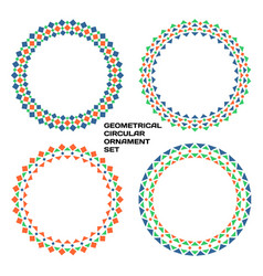 geometrical circular ornament set color patterns vector image