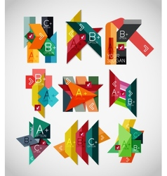 Geometrical shaped infographic concept set vector image vector image
