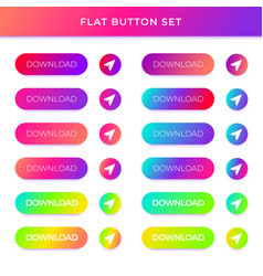 Gradient buttons with shadows vector