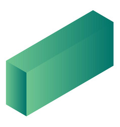 green carton package icon isometric style vector image