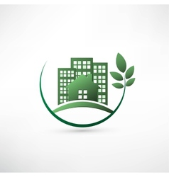 Green environmentally friendly real estate vector image