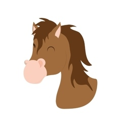 Horse icon Farm animal concept graphic vector