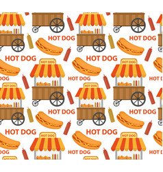 hot dog seamless pattern endless texture fast vector image