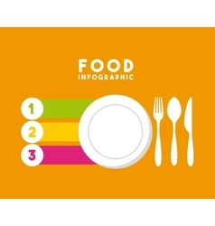 Infographic presentation of food vector