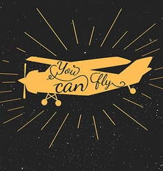 Inspirational typography banner vector image