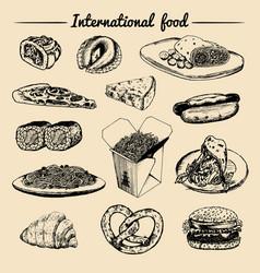 International food menufusion cuisine vector