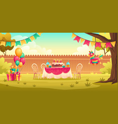 kids birthday party decoration outside vector image