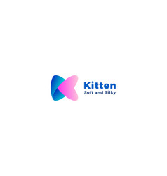 Letter k blue and pink colour creative 3d logo vector