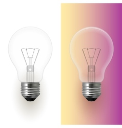 Light bulb isolated image vector