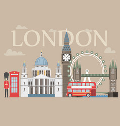 london travel info graphic vector image