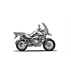 motorcycle sport vector image