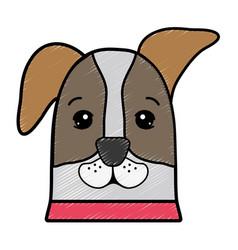 Nice dog a domestic mammal animal vector