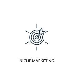 Niche marketing concept line icon simple element vector