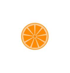 Orange solid line icon healthy fruit vector