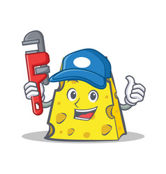 Plumber cheese character cartoon style vector