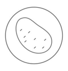 Potato line icon vector image