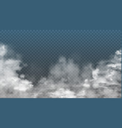 realistic fog or smoke on transparent background vector image