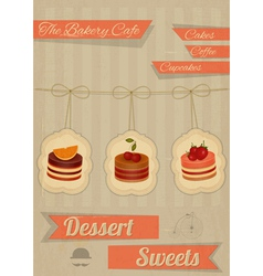 Retro Menu for the Cafe Pastry Shop vector