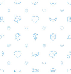 romance icons pattern seamless white background vector image