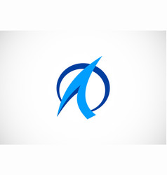 round letter a company logo vector image
