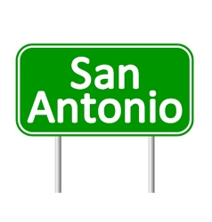 San antonio green road sign vector
