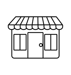 Shopping store market online design outline vector
