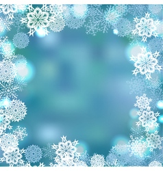 snowflakes frame winter background vector image