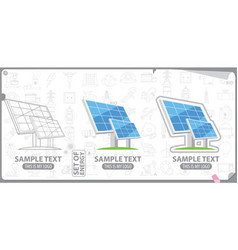 Solar panel solar battery logo energy energetics vector