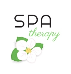 Spa therapy label vector