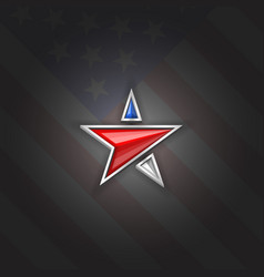Star logo patriotic symbol usa independence day vector