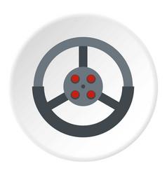 Steering wheel icon circle vector