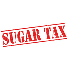 sugar tax sign or stamp vector image