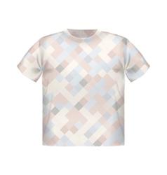T-shirt print geometric modern poster short square vector