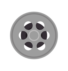 Video film reel vector