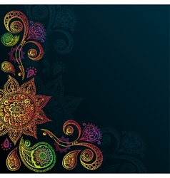 Vintage background with Mandala Indian Ornament vector image