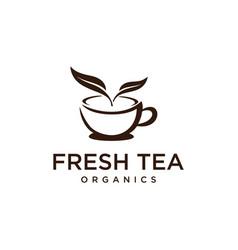 warm tea cup vector image