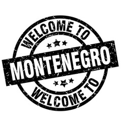 welcome to montenegro black stamp vector image