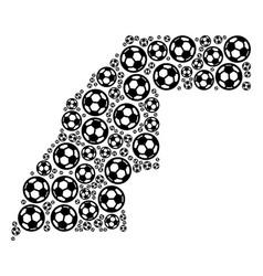 Western sahara map collage of football balls vector