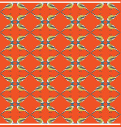 winter yellow birds pattern seamless vector image