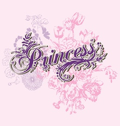 Wording of princess vector image