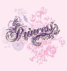 Wording princess vector