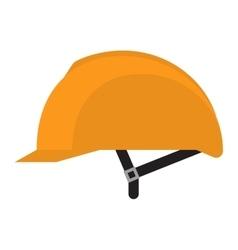 Yellow helmet isolated on white vector image