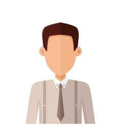 Young Man Private Avatar Icon vector