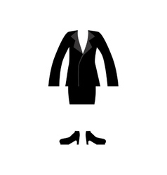 color silhouette with female clothing executive vector image
