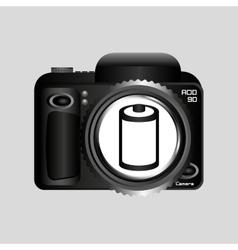 Digital photo camera negative roll vector