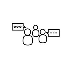 Group comunication icon vector