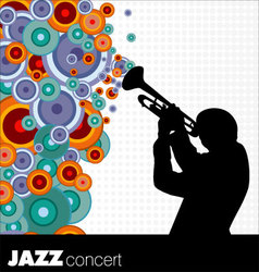 jazz musician background vector image