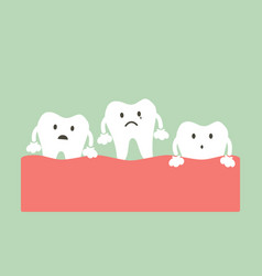 loose tooth vector image vector image