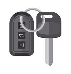 Security car key with remote control cartoon flat vector image vector image